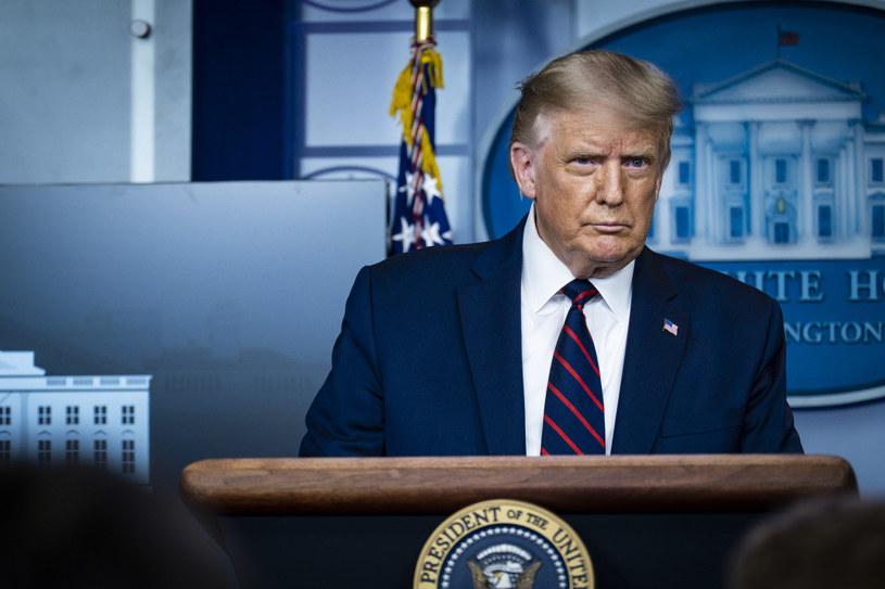 Prezydent Trump zezwolił na używanie osocza dla pacjentów z COVID-19 /PETE MAROVICH / GETTY IMAGES NORTH AMERICA /AFP