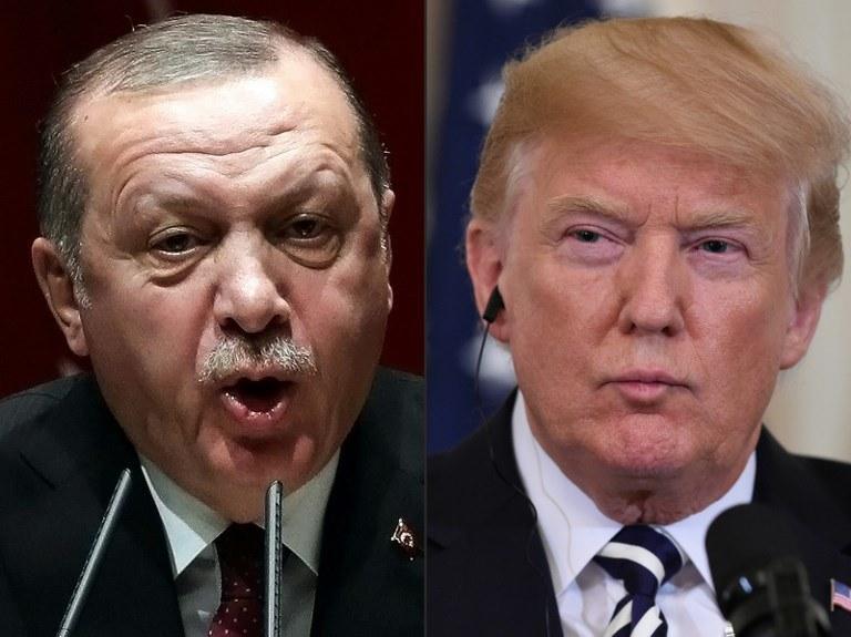 Prezydent Turcji Recep Tayyip Erdogan i prezydent Stanów Zjednoczonych Donald Trump /ADEM ALTAN, SAUL LOEB /AFP