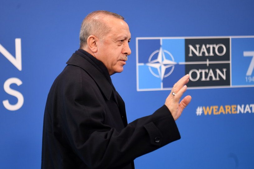 Prezydent Turcji Recep Tayyip Erdogan ma szczycie NATO w Londynie. /NEIL HALL /PAP/EPA