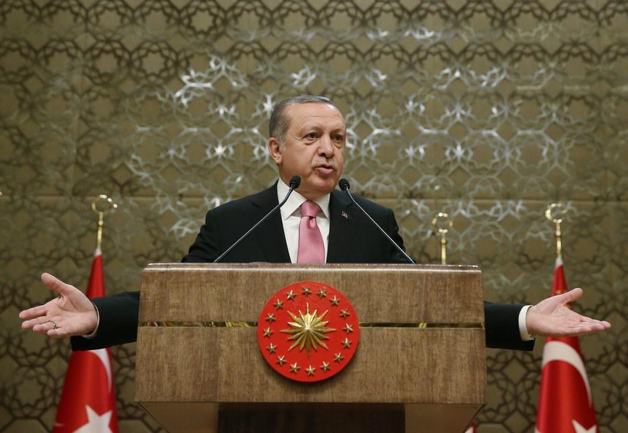 Prezydent Turcji Recep Tayyip Erdogan /TURKISH PRESIDENT OFFICE HANDOUT /PAP/EPA