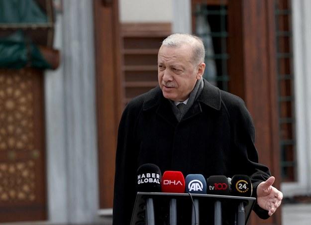 Prezydent Turcji Recep Tayyip Erdogan /AA/ABACA /PAP/EPA