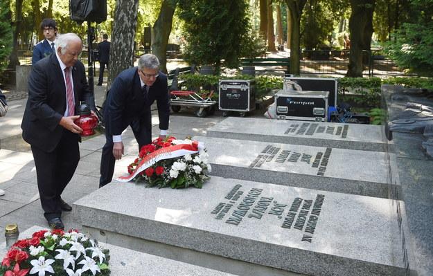 Prezydent uczcił pamięć powstańców /Radek Pietruszka /PAP