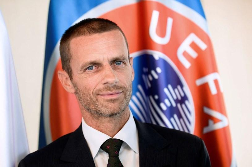 Prezydent UEFA Aleksander Ceferin /AFP