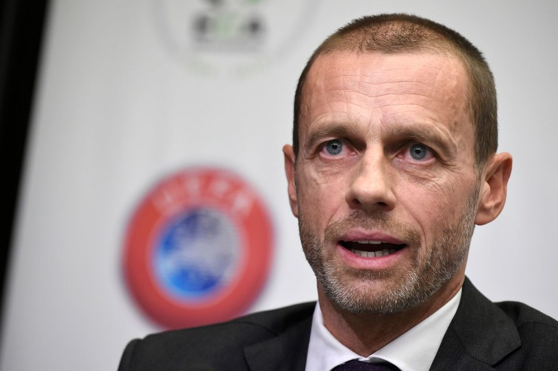 Prezydent UEFA Aleksander Czeferin /AFP
