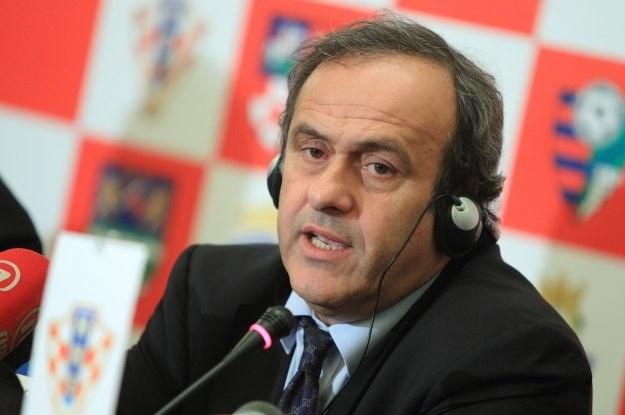 Prezydent UEFA Michal Platni czeka na dowody w sprawie korupcji przy wyborze gospodarza EURO /AFP