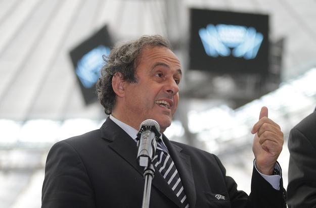 Prezydent UEFA Michel Platini Fot. Bartłomiej Zborowski /PAP