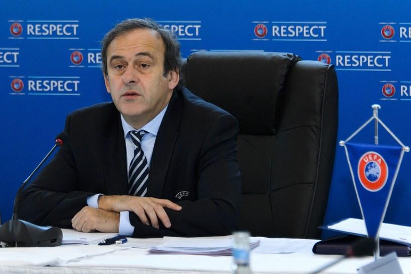 Prezydent UEFA  - Michel Platini /AFP