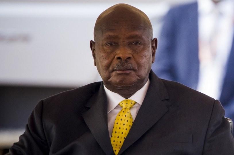Prezydent Ugandy Yoweri Museveni /BADRU KATUMBA /AFP
