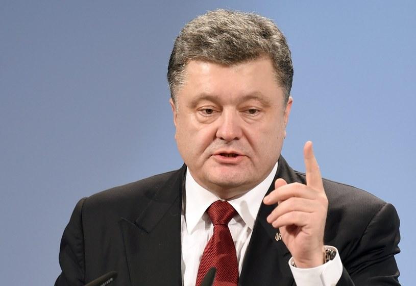 Prezydent Ukrainy Petro Poroszenko chce odwołać prokuratora generalnego /PAP/EPA