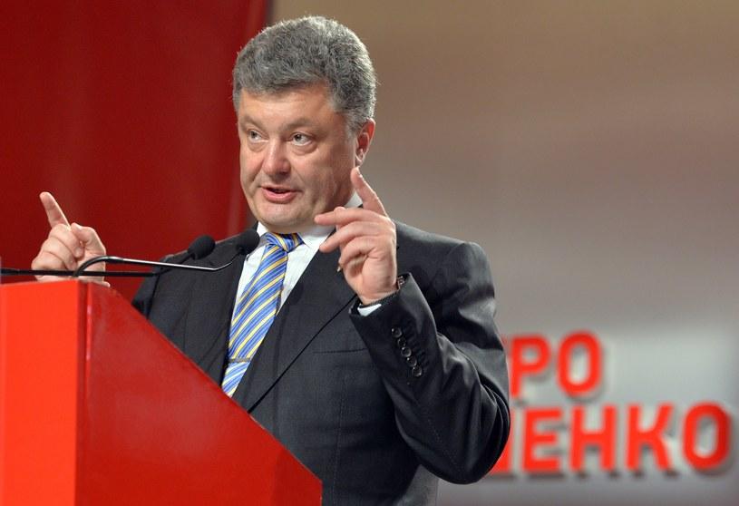 Prezydent Ukrainy Petro Poroszenko. /AFP