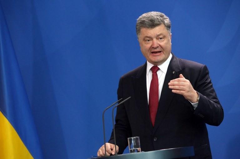 Prezydent Ukrainy, Petro Poroszenko /AFP