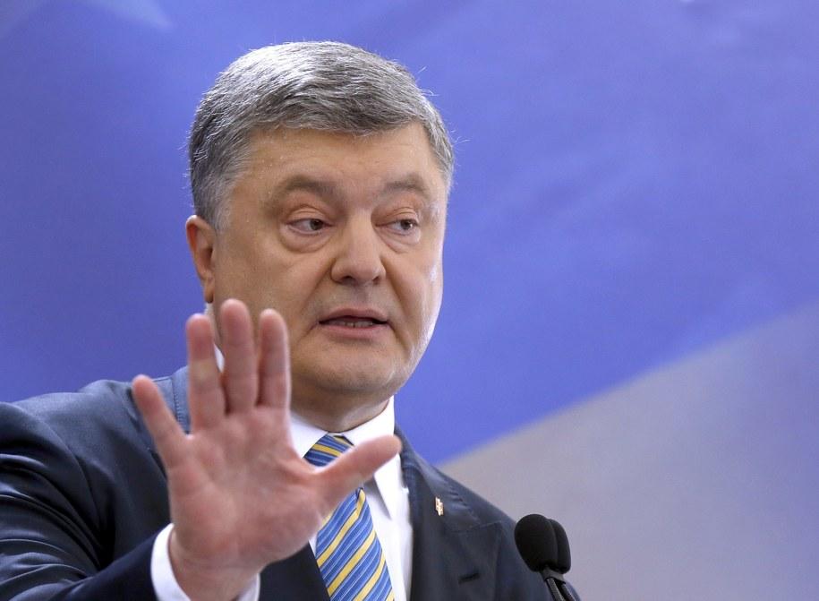 Prezydent Ukrainy Petro Poroszenko /TATYANA ZENKOVICH  /PAP/EPA