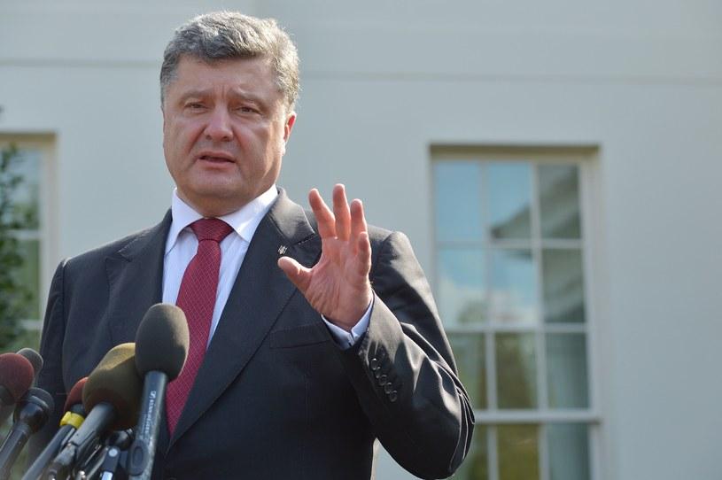 Prezydent Ukrainy przekazał swoim rodakom życzenia /AFP