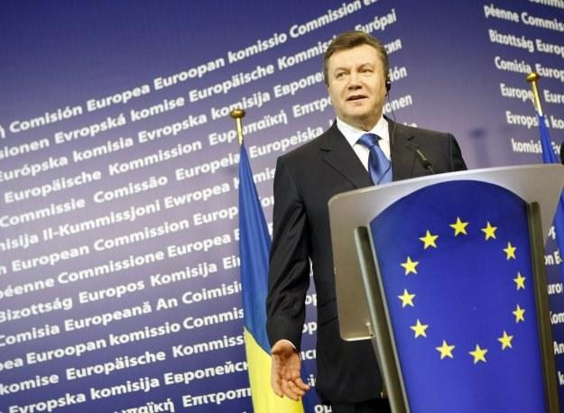 Prezydent Ukrainy - Wiktor Janukowycz /AFP