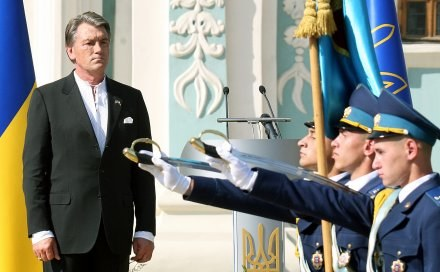 Prezydent Ukrainy Wiktor Juszczenko /AFP