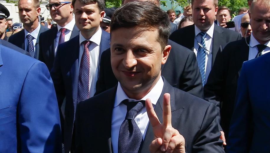Prezydent Ukrainy Wołodymyr Zełemski /STEPAN FRANKO /PAP/EPA