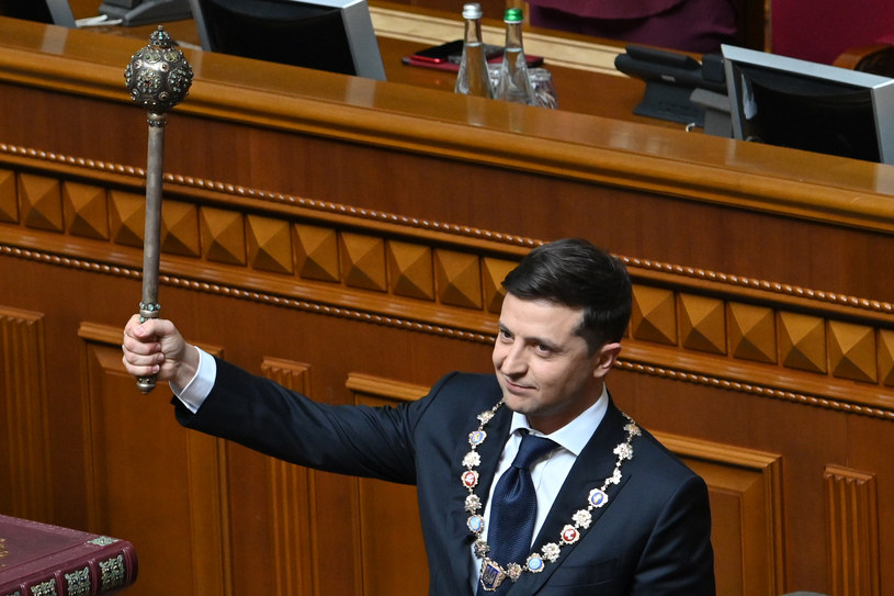 Prezydent Ukrainy Wołodymyr Zełenski /GENYA SAVILOV /AFP