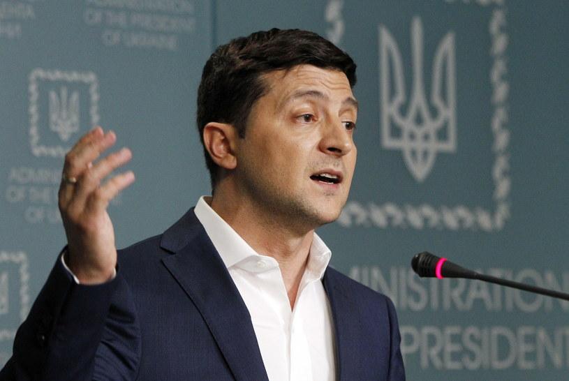 Prezydent Ukrainy Wołodymyr Zełenski /PAP/EPA