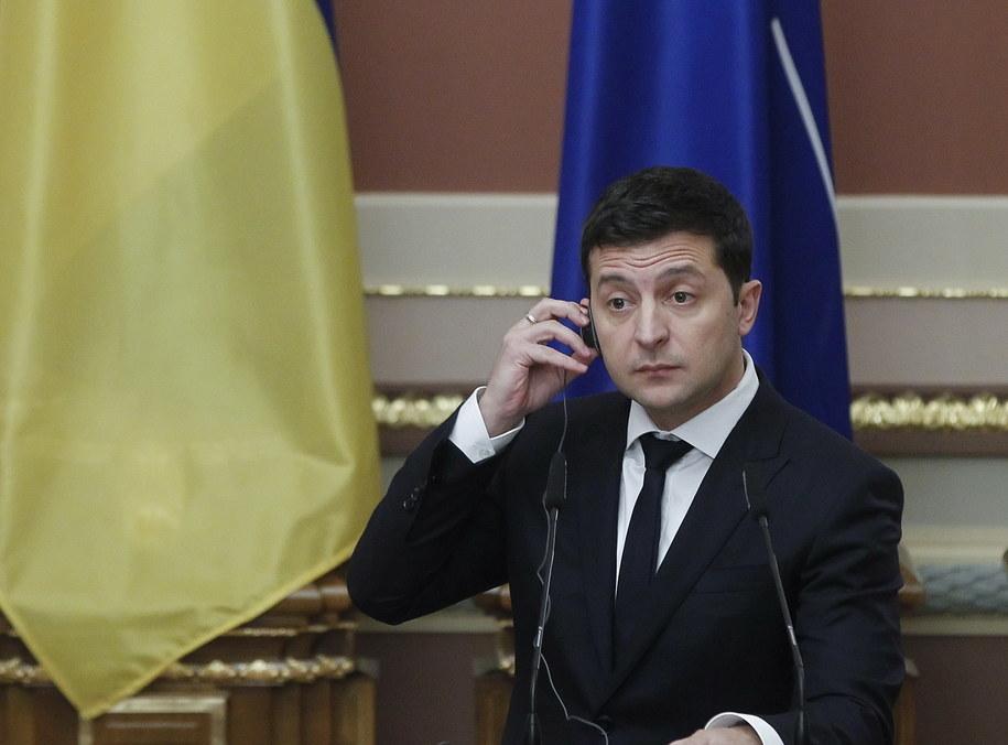 Prezydent Ukrainy Wołodymyr Zełenski /STEPAN FRANKO /PAP/EPA