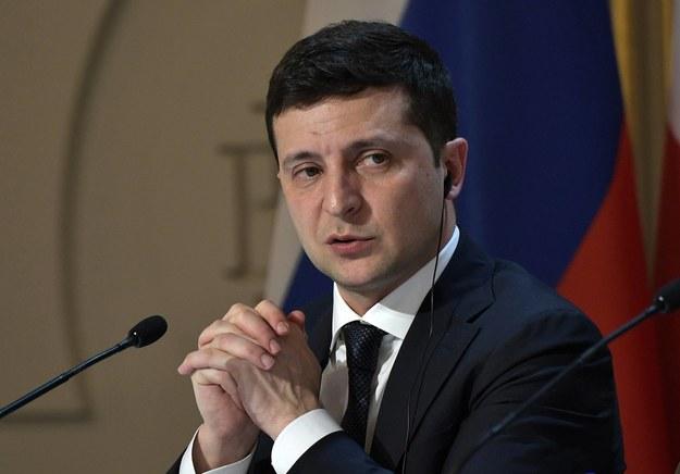 Prezydent Ukrainy Wołodymyr Zełenski /ALEXEI NIKOLSKY  /PAP/ITAR-TASS