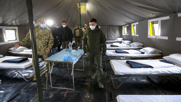 Prezydent Ukrainy Wołodymyr Zełenski /UKRAINIAN PRESIDENTIAL PRESS SERVICE HANDOUT /PAP/EPA