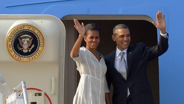 Prezydent USA Barack Obama i pierwsza dama Michelle /AFP