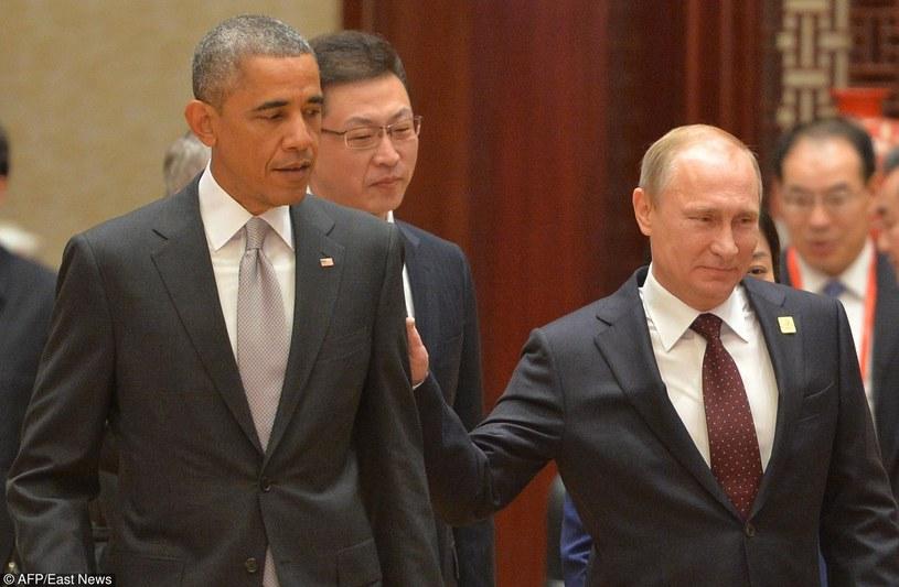 Prezydent USA Barack Obama i prezydent Rosji Władimir Putin /ALEXEY DRUZHININ /East News