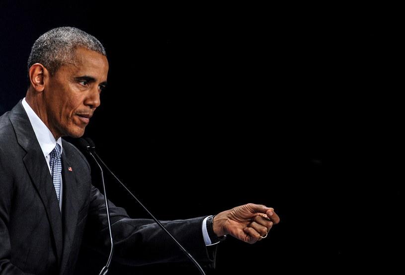 Prezydent USA Barack Obama podczas konferencji prasowej na zakończenie szczytu NATO /Marcin Obara /PAP