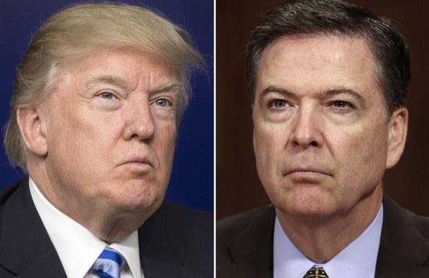 Prezydent USA Donald Trump i były dyrektor FBI James Comey /MICHAEL REYNOLDS/SHAWN THEW /PAP/EPA