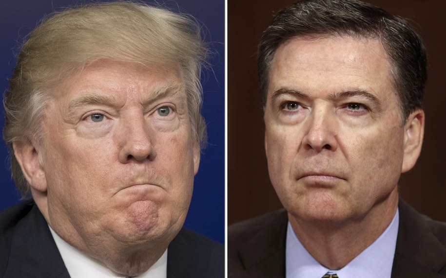 Prezydent USA Donald Trump i były już dyrektor FBI James Comey /MICHAEL REYNOLDS/SHAWN THEW /PAP/EPA