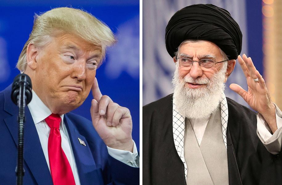 Prezydent USA Donald Trump i najwyższy przywódca Iranu, ajatollah Ali Chamenei /ERIK S. LESSER/IRAN'S SUPREME LEADER OFFICE /PAP/EPA