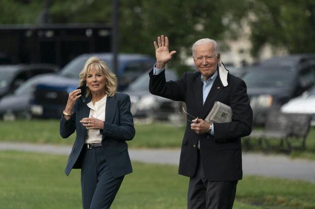 Prezydent USA Joe Biden i pierwsza dama Jill Biden wyruszają w podróż do Europy /CHRIS KLEPONIS /PAP/EPA