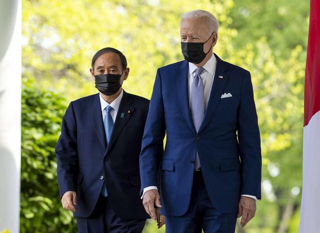 Prezydent USA Joe Biden i premier Japonii Suga Yoshihide /Doug Mills / POOL /PAP/EPA