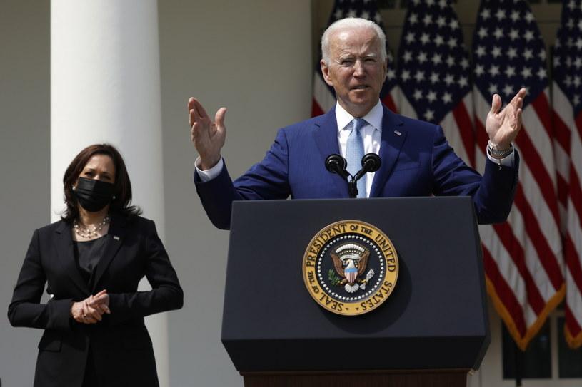 Prezydent USA Joe Biden i wiceprezydent Kamala Harris /YURI GRIPAS /PAP/EPA