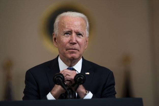 Prezydent USA Joe Biden, komentujący wyrok ws. śmierci Floyda /Doug Mills / POOL /PAP/EPA