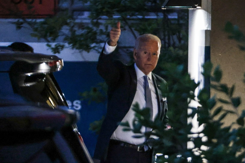 Prezydent USA Joe Biden odwiedził żonę w klinice /Oliver Contreras/POOL /PAP/EPA
