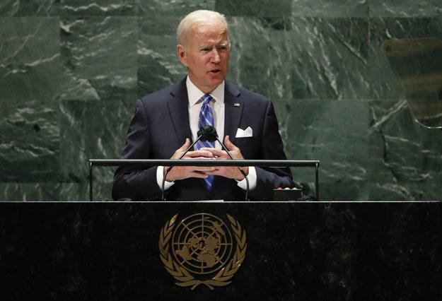 Prezydent USA Joe Biden przemawia w ONZ-cie /EDUARDO MUNOZ/POOL /PAP/EPA