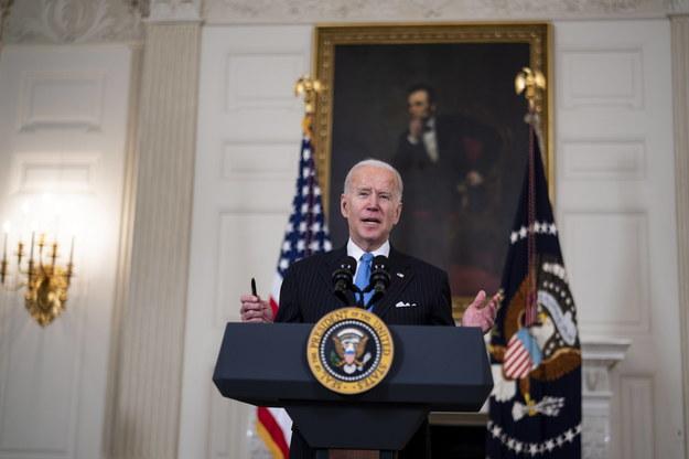 Prezydent USA Joe Biden /Doug Mills / POOL /PAP/EPA
