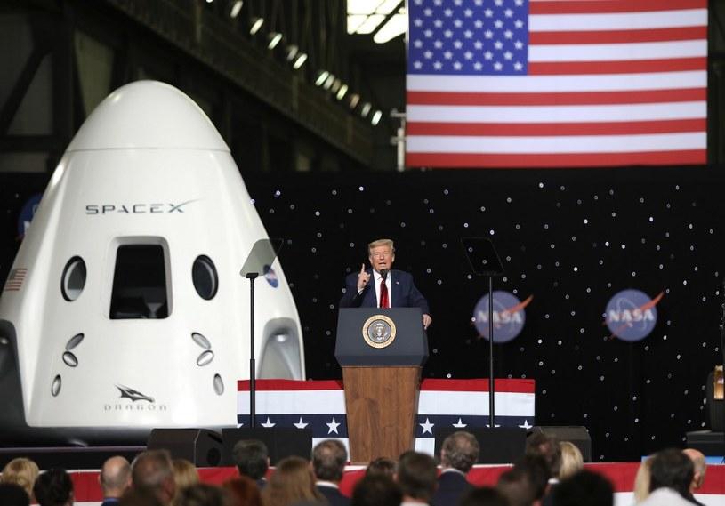 Prezydent USA twierdzi, że to początek amerykańskiej dominacji w kosmosie /AFP