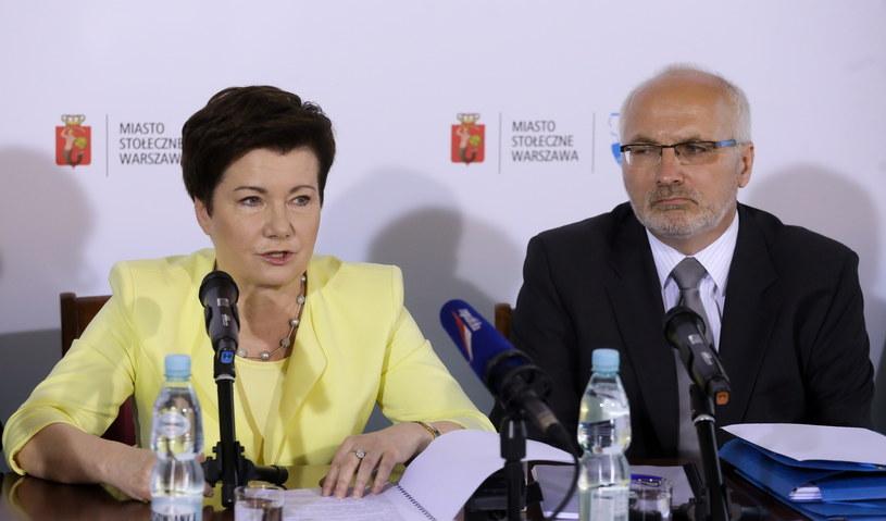 Prezydent Warszawy Hanna Gronkiewicz-Waltz oraz dyrektor Biura Polityki Zdrowotnej m. st. Warszawy Dariusz Hajdukiewicz /Paweł Supernak /PAP