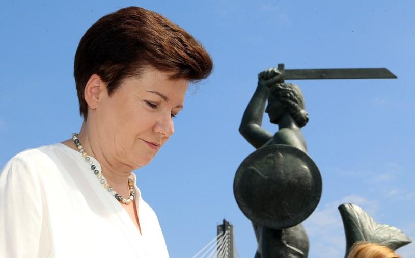 Prezydent Warszawy Hanna Gronkiewicz-Waltz /Mariusz Grzelak /Reporter