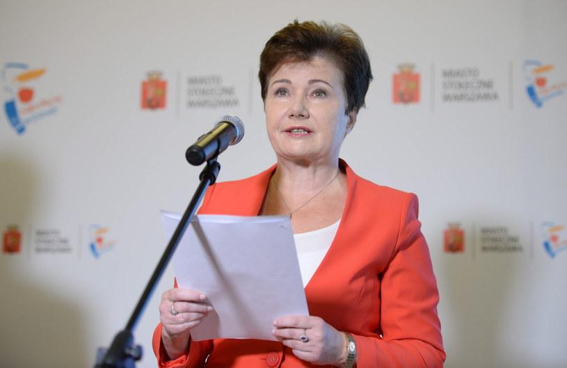 Prezydent Warszawy Hanna Gronkiewicz-Waltz /Jacek Turczyk /PAP