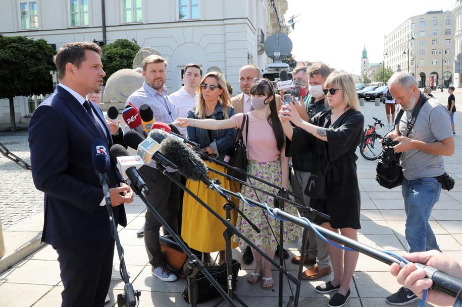 Prezydent Warszawy i kandydat KO na prezydenta Rafał Trzaskowski /Wojciech Olkuśnik /PAP