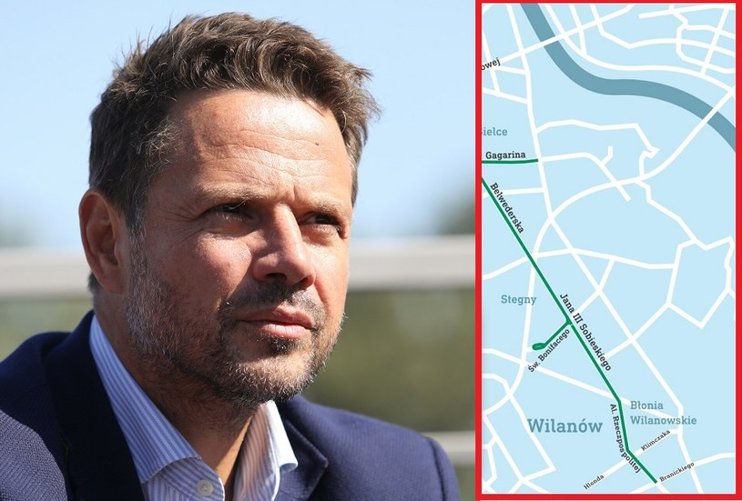 Prezydent Warszawy Rafał Trzaskowski ogłosił: rusza przetarg na budowę linii tramwajowej do Wilanowa /Tomasz Jastrzebowski/ /Reporter