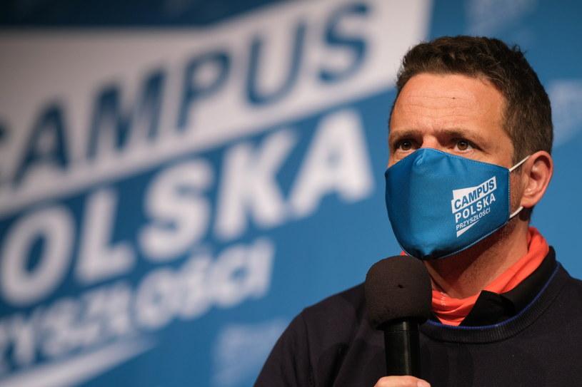 Prezydent Warszawy Rafał Trzaskowski podczas spotkania z młodzieżą nt. akcji Campus Polska w Bielsku-Białej /PAP/Hanna Bardo /PAP