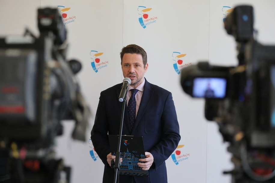 Prezydent Warszawy Rafał Trzaskowski /Paweł Supernak /PAP
