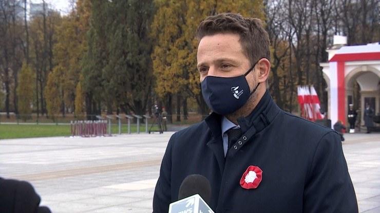 Prezydent Warszawy Rafał Trzaskowski /Polsat News