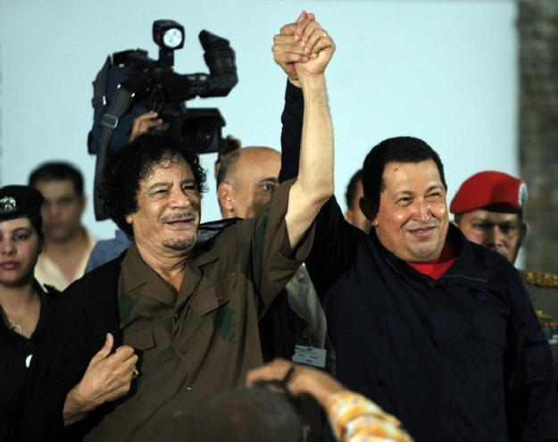 Prezydent Wenezueli Hugo Chavez i przywódca Libii Muammar Kadafi /AFP