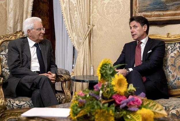 Prezydent Włoch Sergio Mattarella i premier Giuseppe Conte /PAOLO GIANDOTTI HANDOUT /PAP/EPA