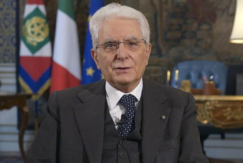 Prezydent Włoch Sergio Mattarella wygłosił orędzię do narodu /QUIRINALE PALACE PRESS OFFICE  /PAP/EPA